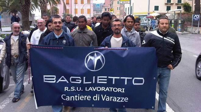 protesta cantieri Baglietto Varazze