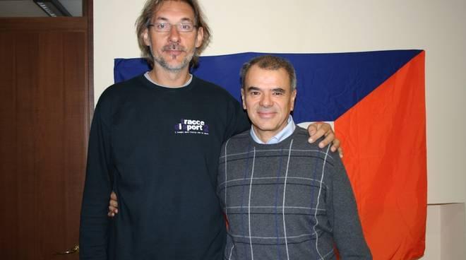 Livio Bracco con Zorzi