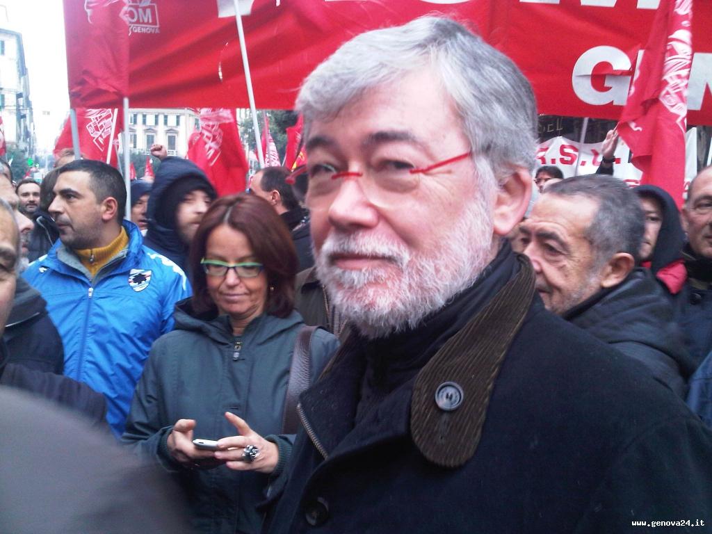 Cofferati Sciopero generale Genova dicembre 2011