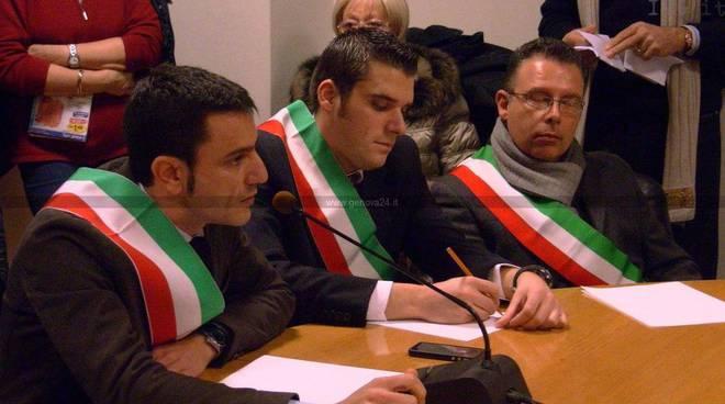 Genova - protesta valbormida sanita
