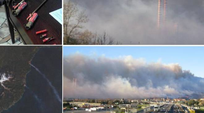 Incendio Quiliano 2007 provocato da razzo