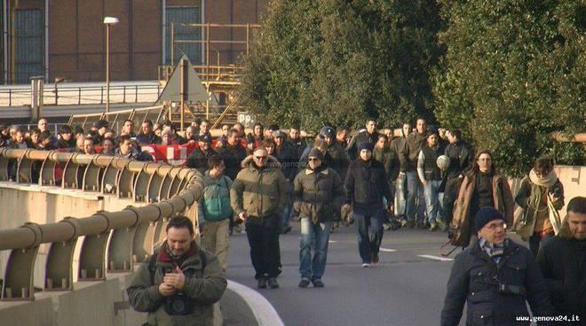Fincantieri - protesta gennaio