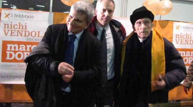 nichi vendola, marco doria, don andrea gallo