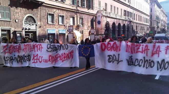 Protesta ambulanti Genova