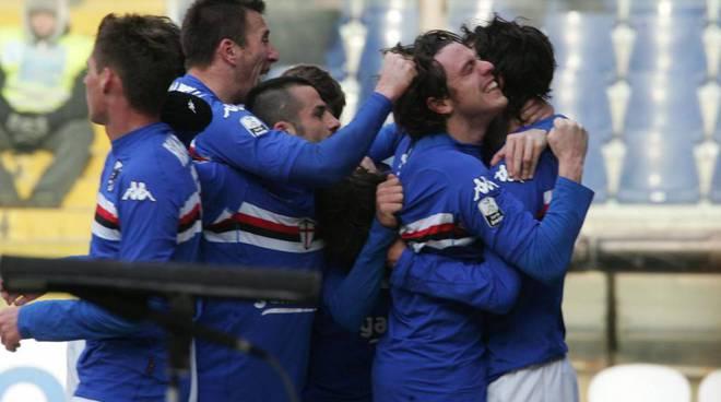 sampdoria  - gol - esultanza - pozzi