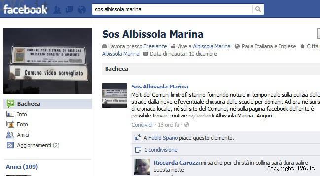 sos albissola marina facebook
