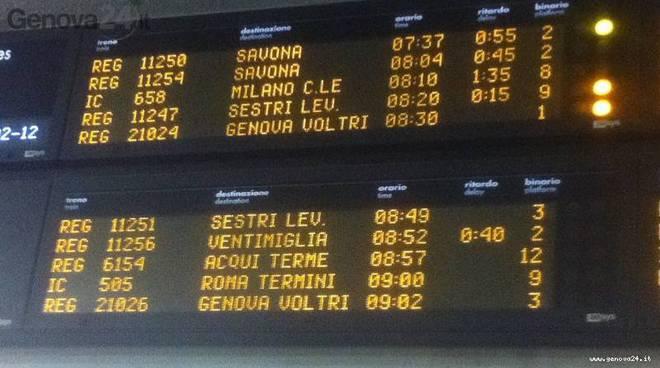 treni ritardo