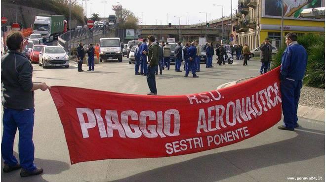 Blocco contro articolo 18 Genova