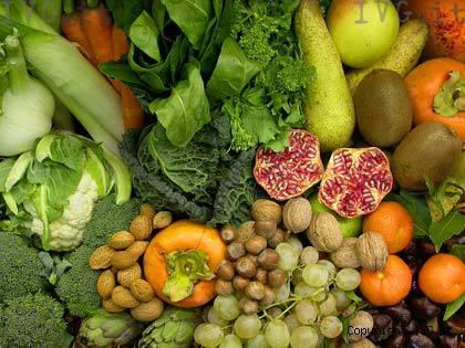 esposizione frutta e verdura