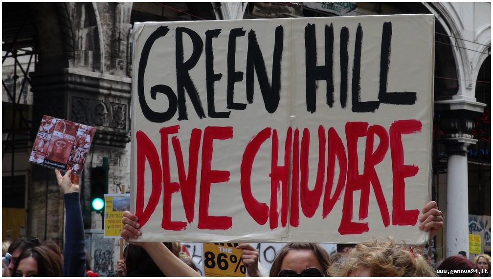 animalisti green hill manifestazione