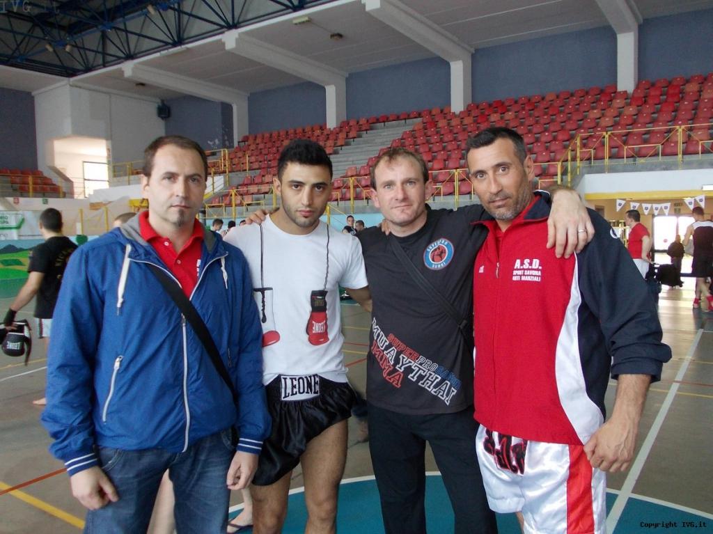 maestro Dibari,campione del mondo Giorgio Petrosyan,coach Gaetano Comisi e coach Lamberti Giovanni