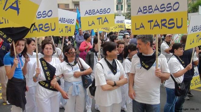 Protesta Albergatori a Savona