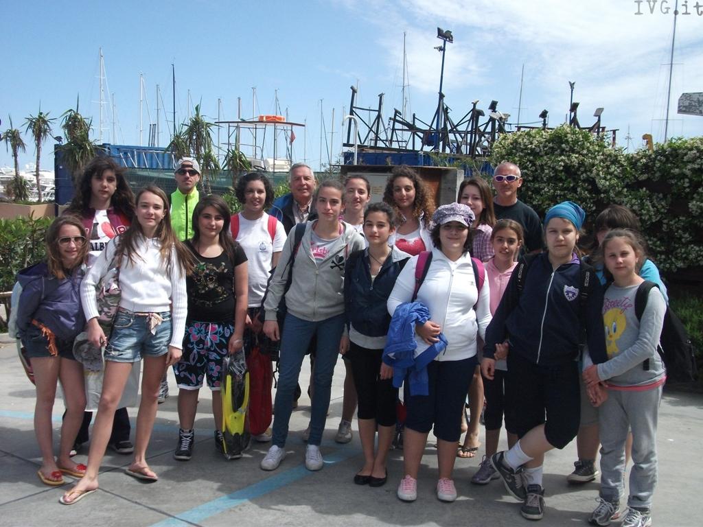 studenti all'isola gallinara