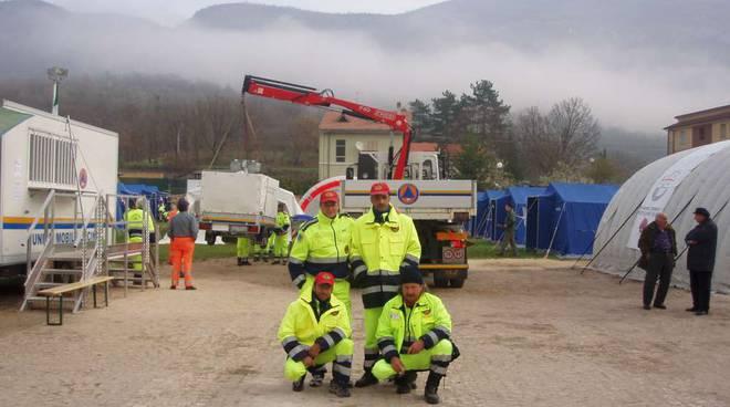 Terremoto in Emilia: squadra Aib da Savona per allestimento tendopoli e interventi