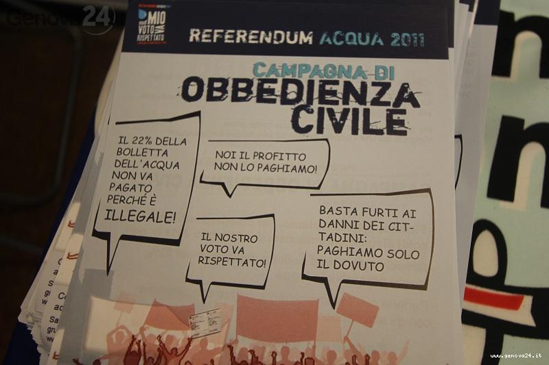 acqua pubblica obbedienza civile1