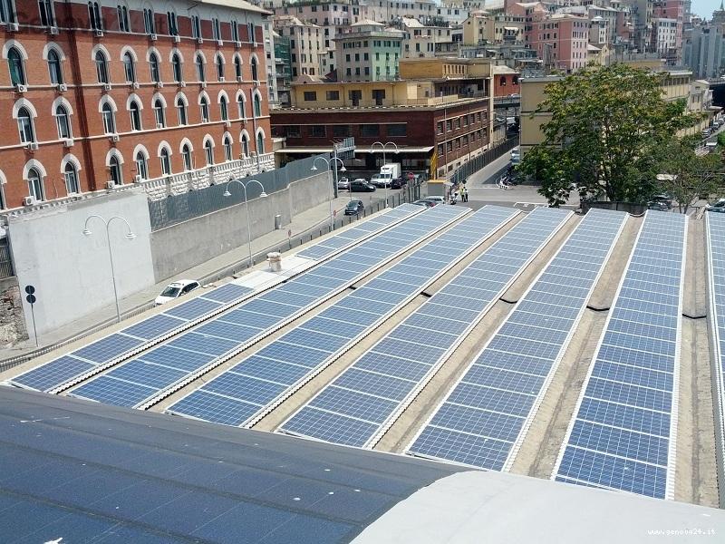 fotovoltaico porto di genova