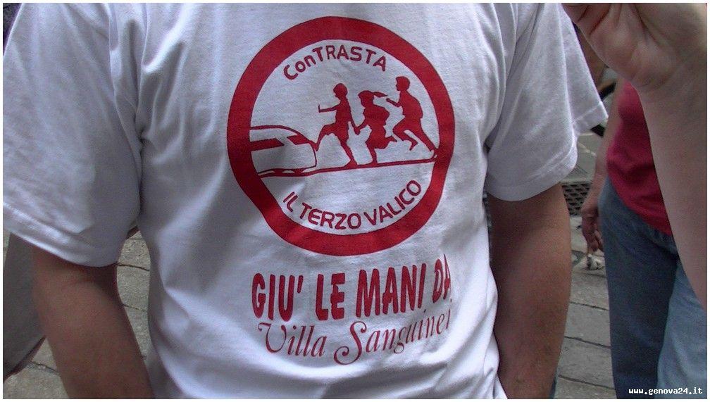 Genova - protesta e conferenza terzo valico