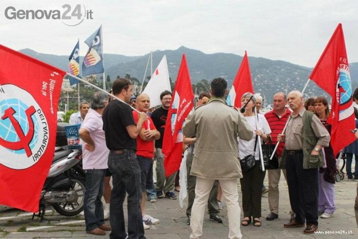 manifestazione santa margherita contro giovani industriali acari pcl