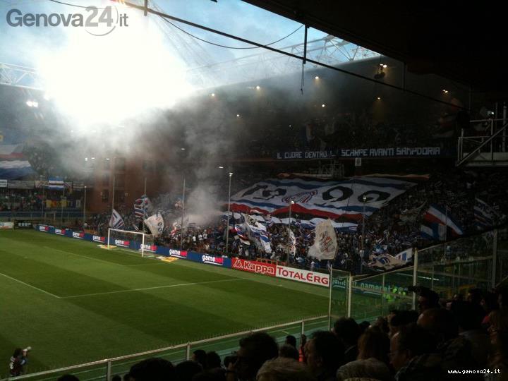 sampdoria ultras tifosi playoff