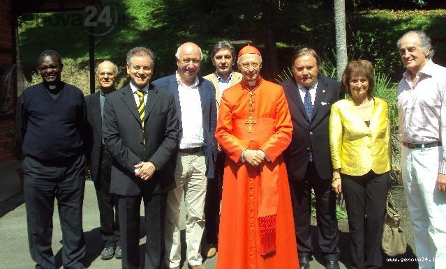 cardinale bagnasco a uscio, con mondello, mossini, boitano