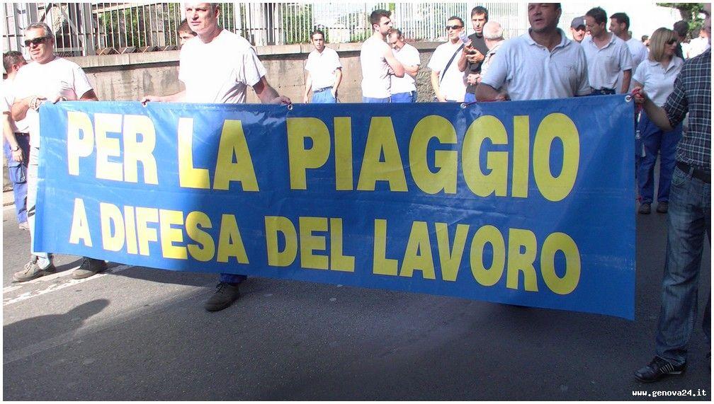 Sestri Ponente - Piaggio Aero protesta