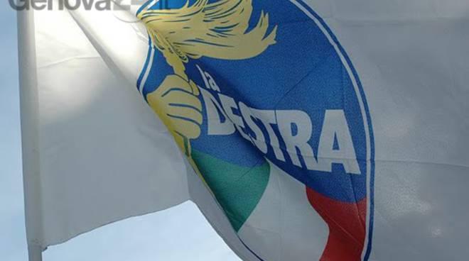 la destra, bandiera