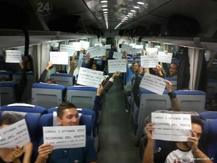 pendolari, sciopero del posto a sedere