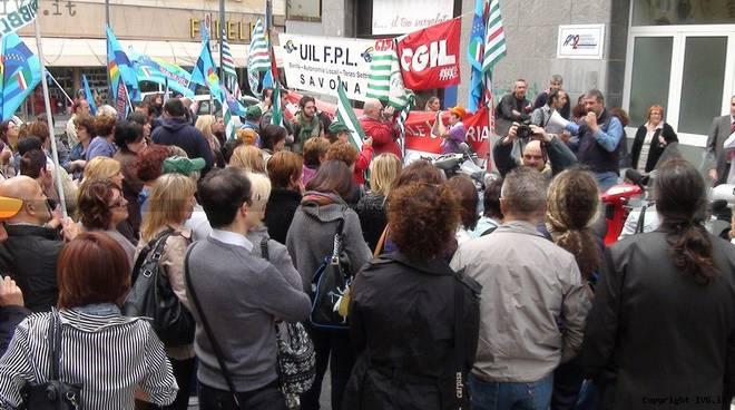 Savona - manifestazione sanita' ottobre