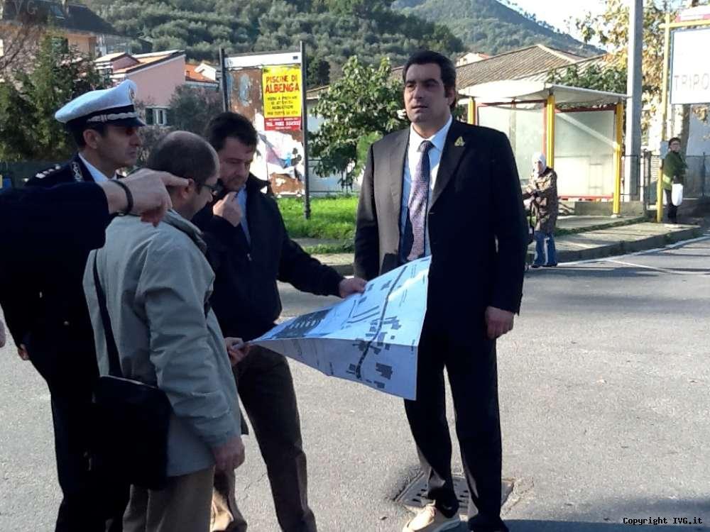 Albenga, viabilità tra San Fedele e Lusignano: sopralluogo della Provincia