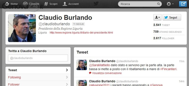burlando twitter