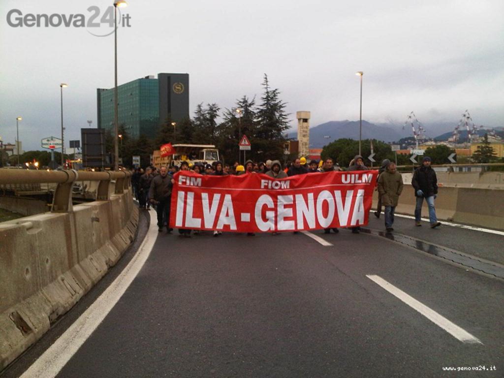 corteo ilva, protesta