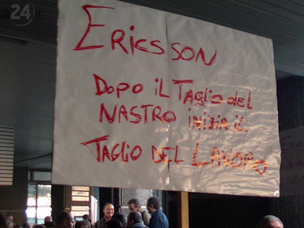 ericsson protesta regione