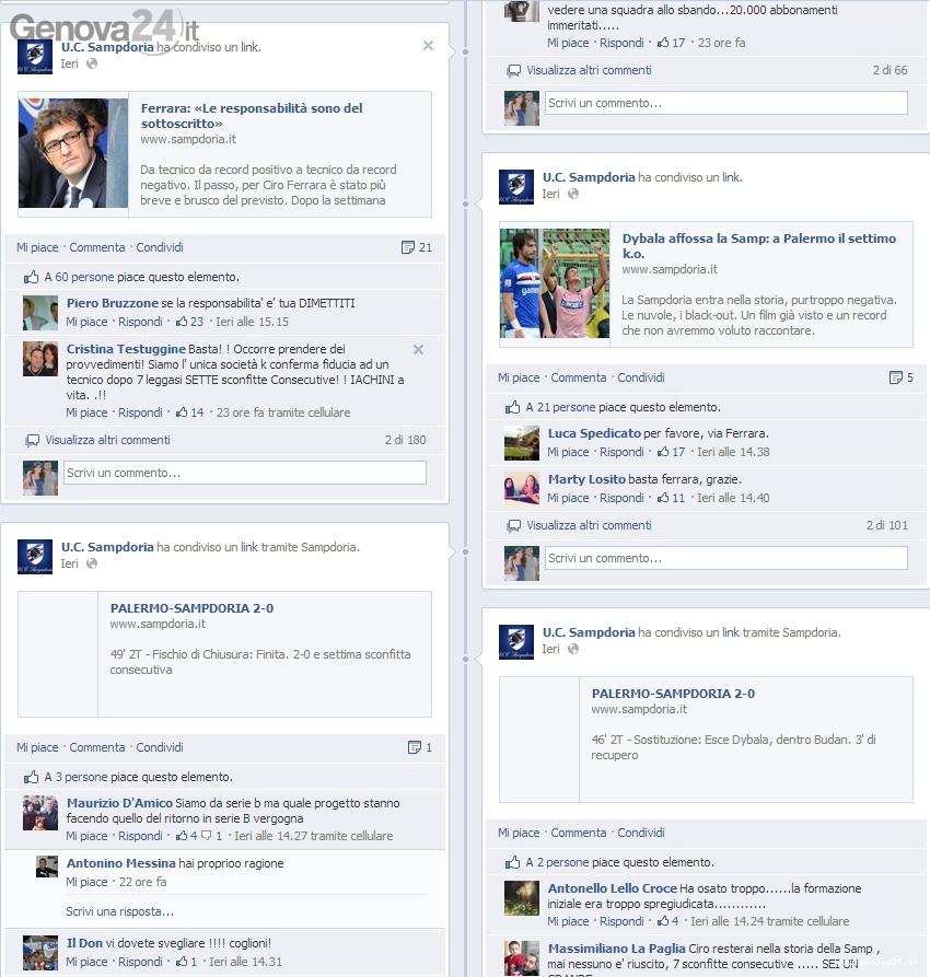 sampdoria facebook tifosi