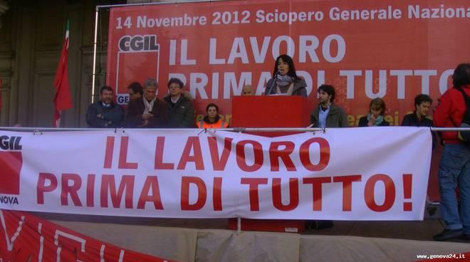 sciopero generale cgil Serena Sorrentino