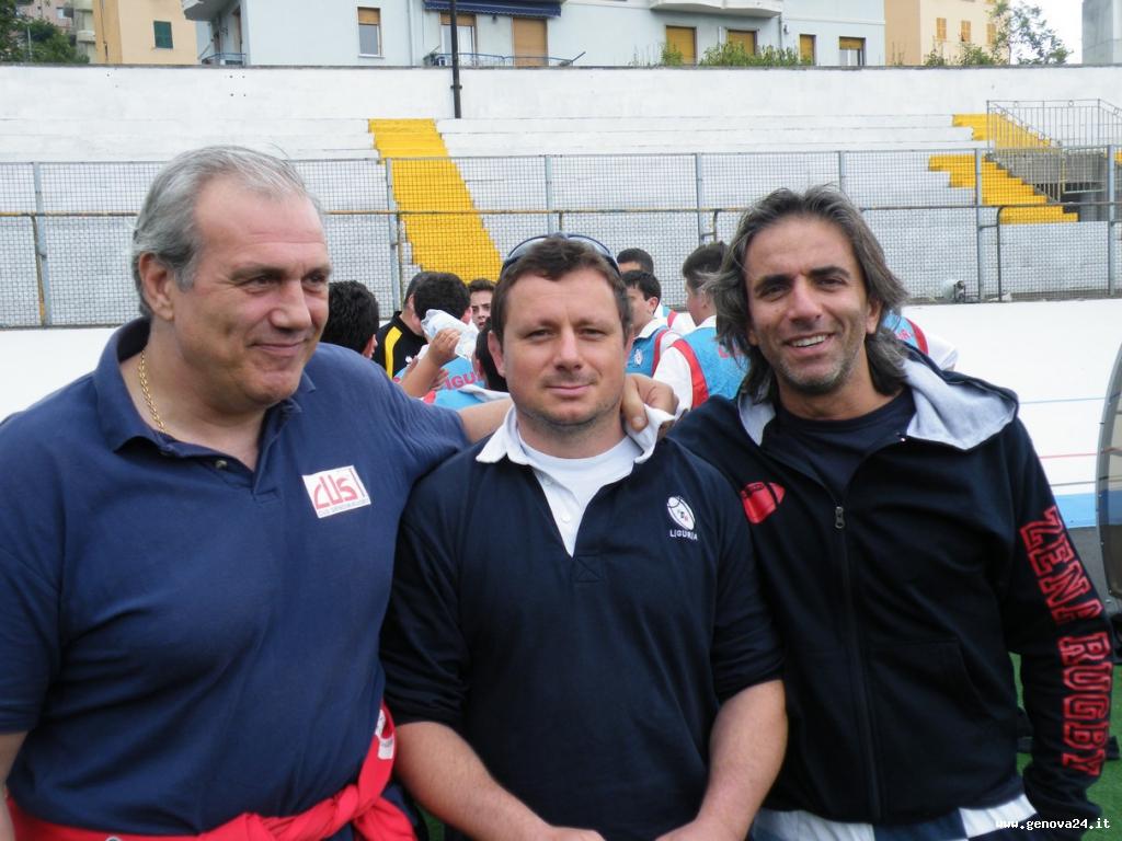 tre arbitri liguri: Tedone, Bernardini e Nicosia.