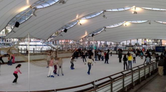 ice club genova pista pattinaggio ghiaccio porto antico
