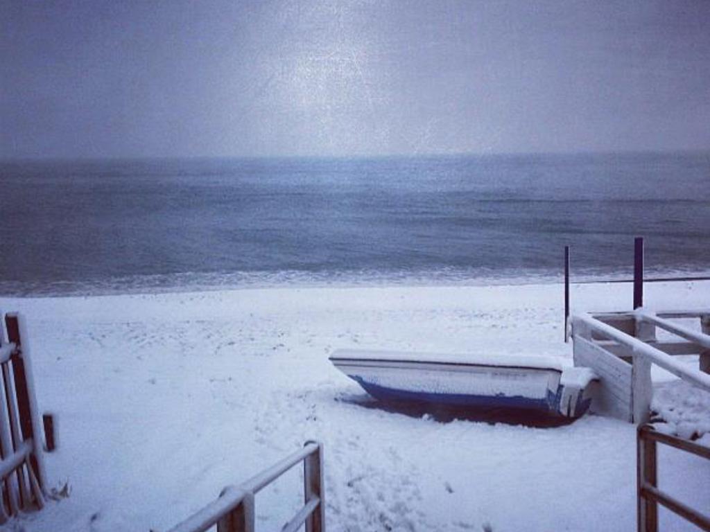 neve spiaggia