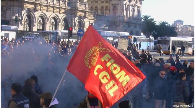 protesta fiom metalmeccanici