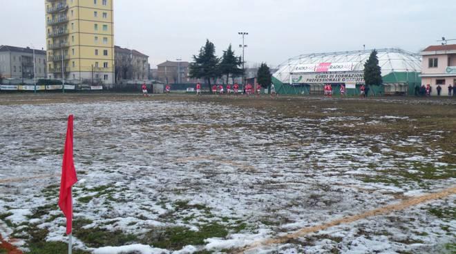 rugby campo ghiacciato