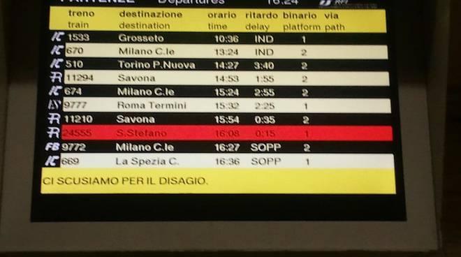 treni ritardi