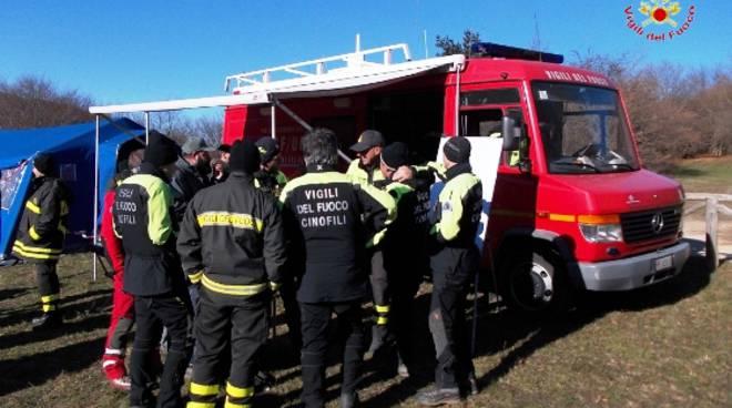 vigili del fuoco ricerca persone