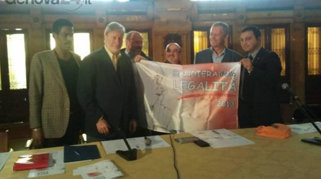 bandiera legalità alla regione liguria
