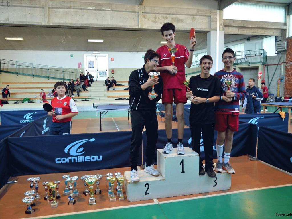 podio provinciali tennistavolo Juniores