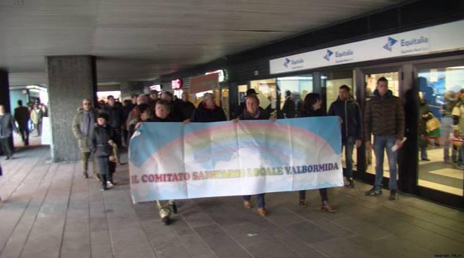 Protesta Valbormida in Regione sanità