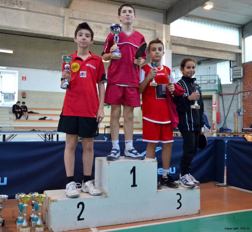 Ragazzi podio provinciali tennistavolo