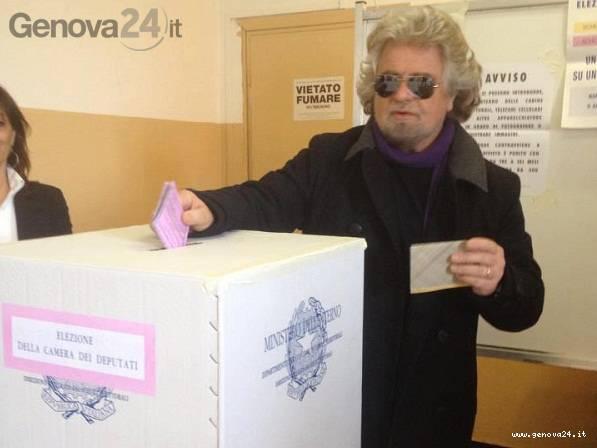 beppe grillo al voto