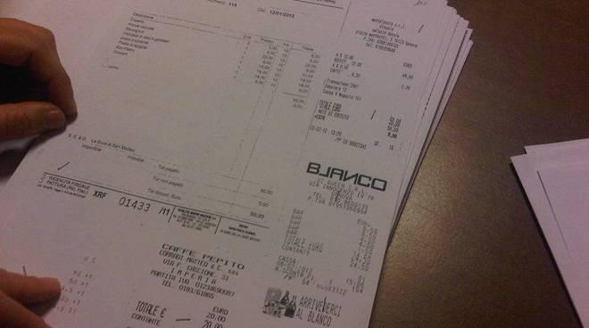 scontrini pd bilancio 2012