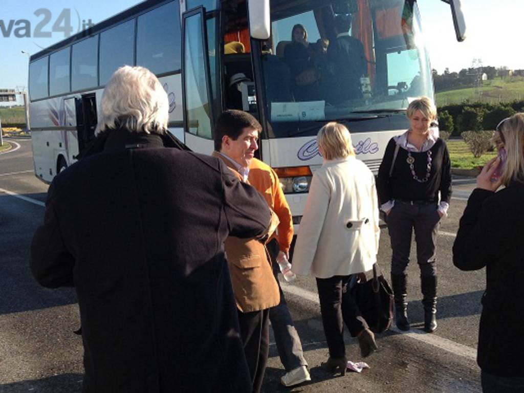 anci liguria, autobus per roma