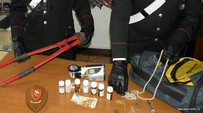 carabinieri santa e rapallo droga, furto