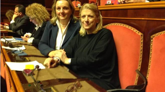 donatella albano e laura puppato al Senato
